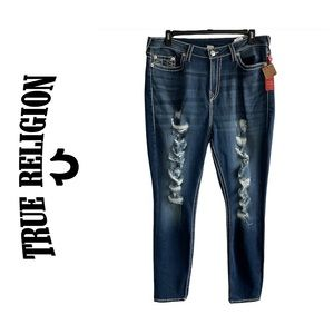 True Religion Curvy Skinny Big T Destroyed Jean 40